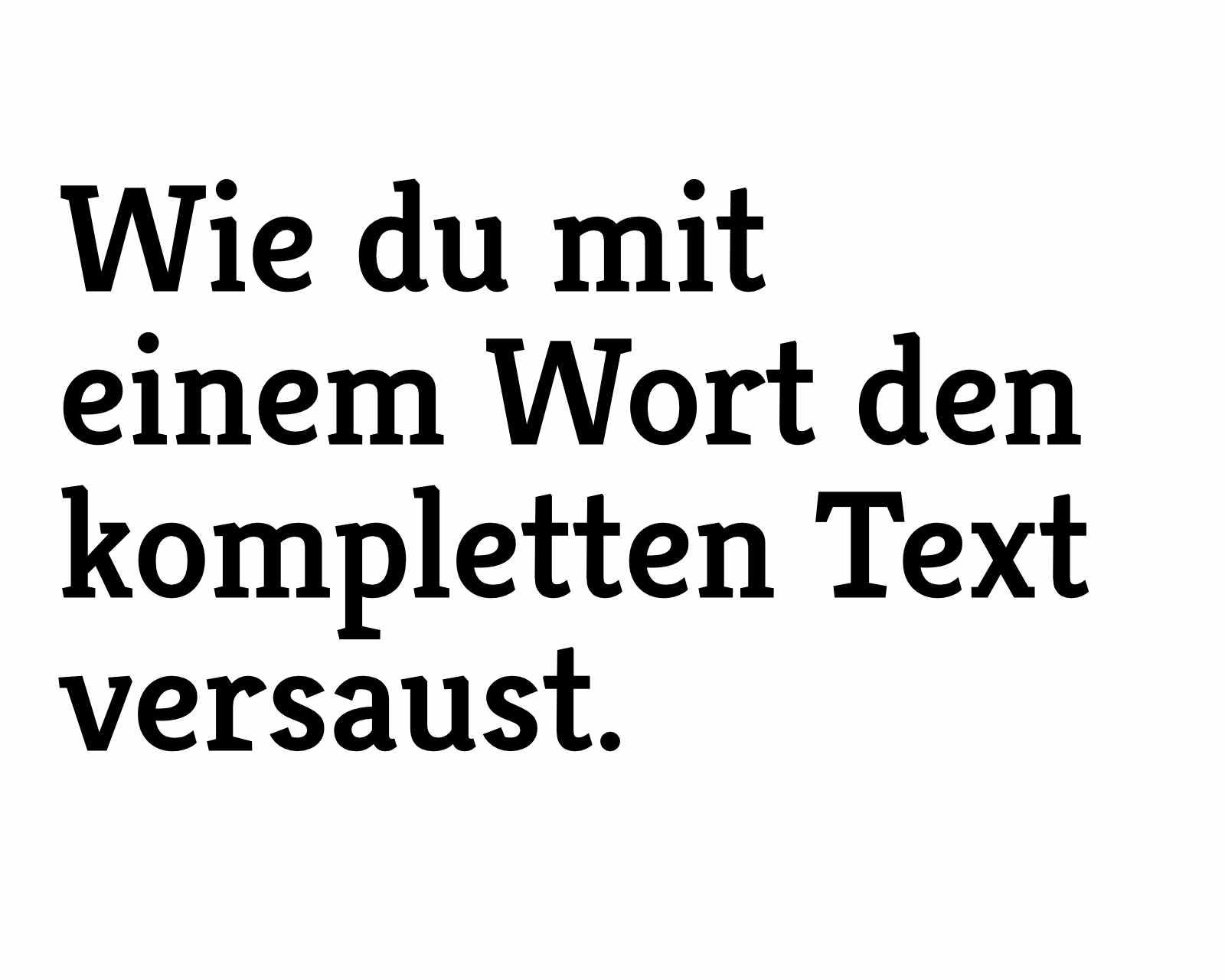 schlechte texte